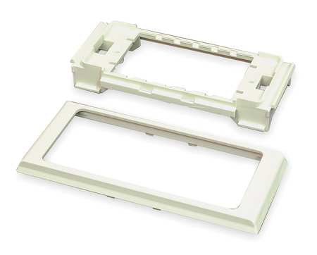Twin Cover Device Bracket, Ivory