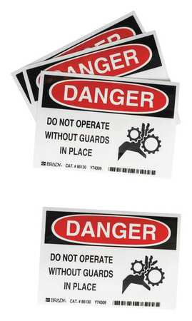 Equipment Label, 3-1/2 In. H, PK5