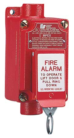 Fire Alarm Pull Station, Red