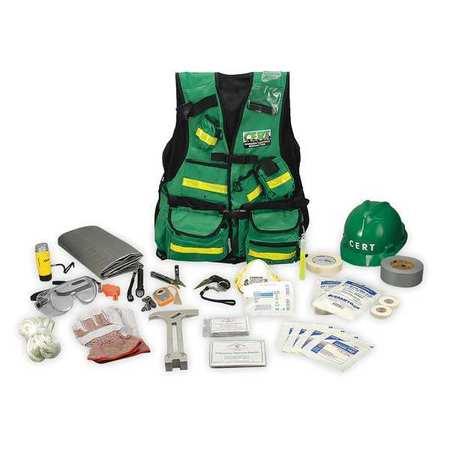 C.E.R.T. Vest Kit,  25 Piece,  High Visibility Green