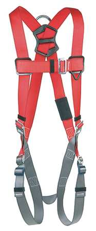 Full Body Harness, S, 420 lb., Red/Gray