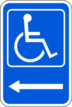 Parking Sign, 18 x 12In, WHT/BL, SYM