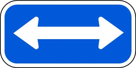 Parking Sign, 6 x 12In, WHT/BL, SYM, MUTCD