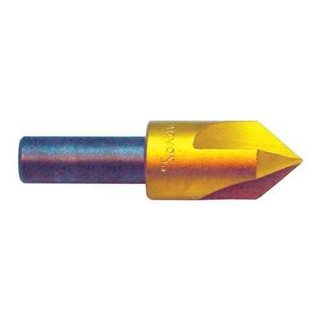 Countersink, 3 FL, 90 Deg, 3/4, Cobalt, TiN