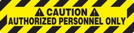 Floor Sign,  Black/Yellow,  24 In. x 6 In.