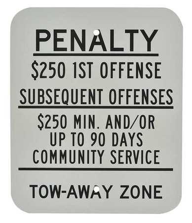 ADA NJ No Parking Sign, 12 x 10In, BK/WHT