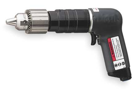 Air Drill, Industrial, Pistol, 3/8 In.