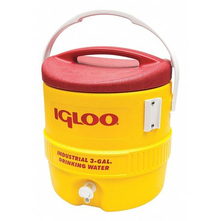 Beverage Cooler, 3 gal., Yellow