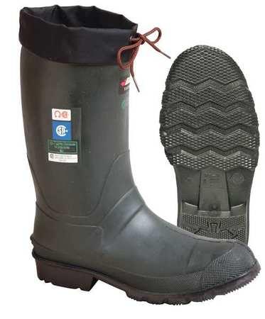 """Ins Boots, Sz 13, 13"""" H, Green, Stl, PR"""