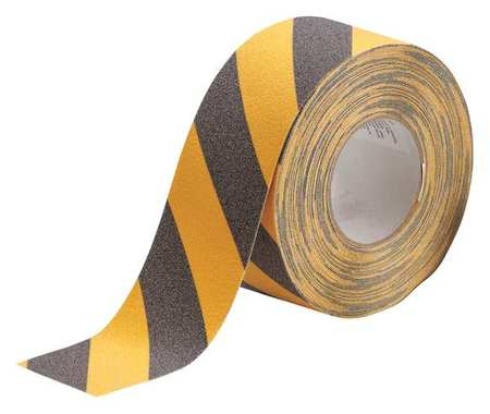 Anti-Slip Tape, Black/Yellow, 3inx60ft