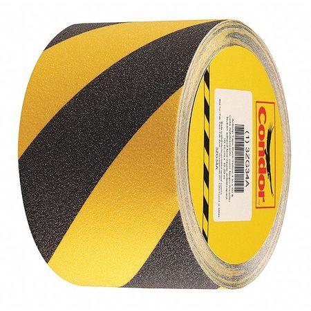Anti-Slip Tape, Black/Yellow, 4inx60ft