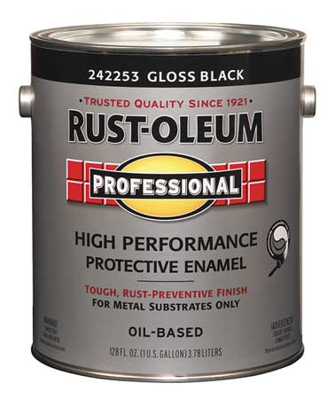 Rust oleum alkyd enamelblackgloss 1gal 242253 for What are alkyd paints