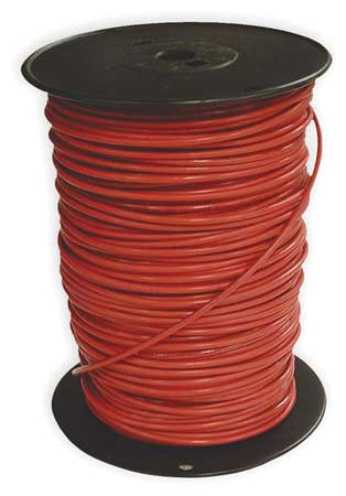 Building Wire, THHN, 10 AWG, Red, 500ft