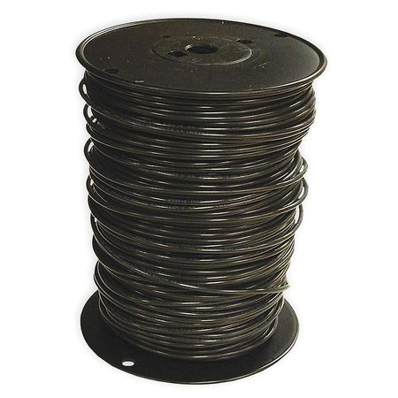 Building Wire, THHN, 10 AWG, Black, 500ft
