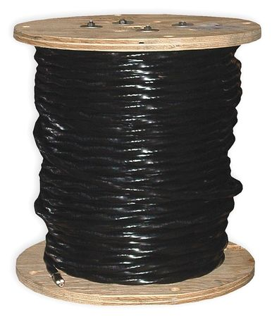 Building Wire, THHN, 8 AWG, Black, 500ft