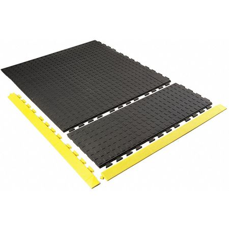 "Mat Ramp, Yellow, 2"" x 3ft. 3"""