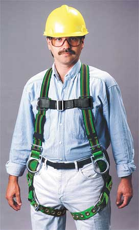 Full Body Harness, Universal, 400 lb, Green
