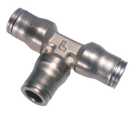 "1/2"" Push-to-Connect Nickel Brass Union Tee"