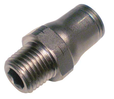 6mm Tube x BSPT Nickel Brass Male Connector