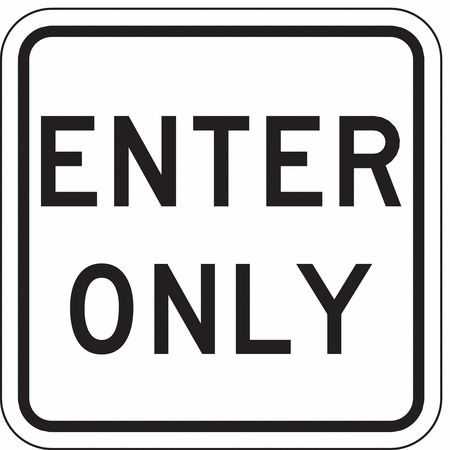 Traffic Sign, 18 x 18In, BK/WHT, DMD GR AL