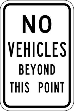 Traffic Sign, 18 x 12In, BK/WHT, Text, MUTCD