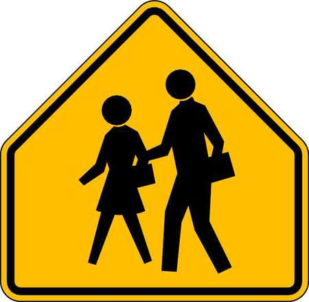 Traffic Sign, 30 x 30In, BK/YEL, SYM, S1-1