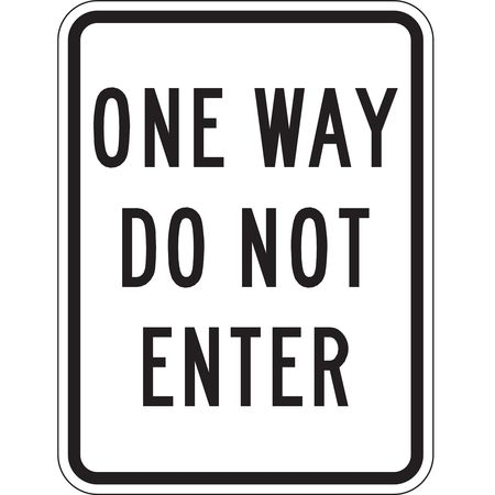 Traffic Sign, 24 x 18In, BK/WHT, Text, R6-2A