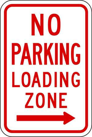 Parking Sign, 18 x 12In, R/WHT, R7-6R