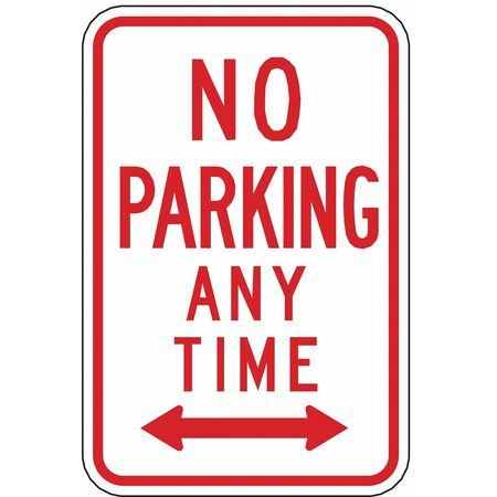 Parking Sign, 18 x 12In, R/WHT, R7-1D, MUTCD