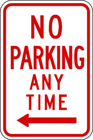 Parking Sign, 18 x 12In, R/WHT, R7-1L