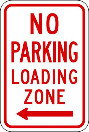Parking Sign, 18 x 12In, R/WHT, R7-6L