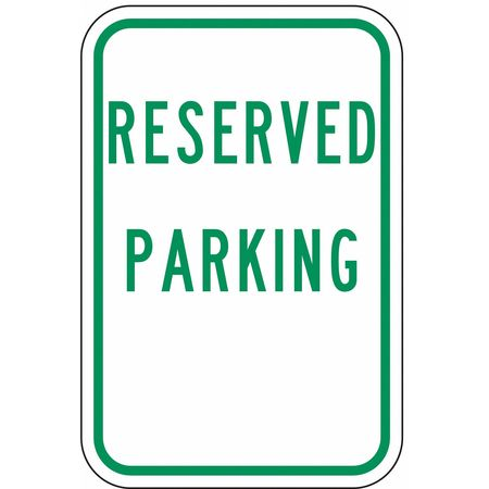 Parking Sign, 18 x 12In, GRN/WHT, HDCP