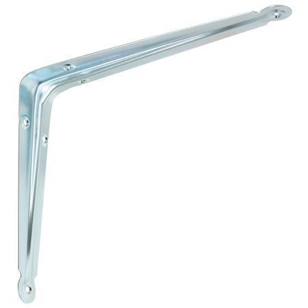 Shelf Bracket, Zinc, 10x8 In