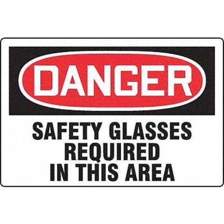 Danger Sign, 24 x 36In, R and BK/WHT, ENG