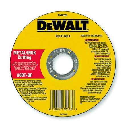 "CutOff Wheel, A36T, 4""x.062""x5/8"""