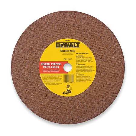 "CutOff Wheel, A24R, 12""x.125""x20mm, 6400rpm"