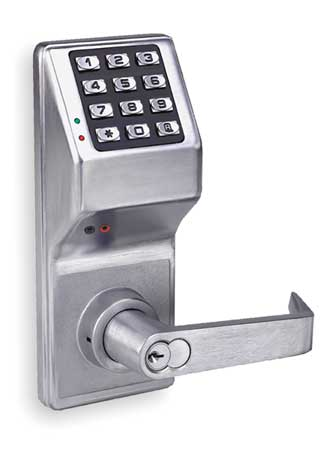 Electronic Lock, Satin Chrome, 12 Button