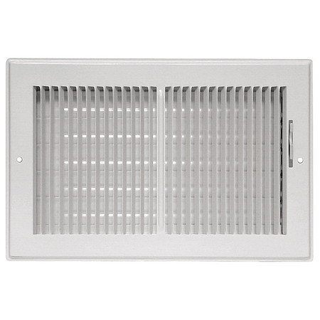 Sidewall/Ceiling Register, 2 Way, 10x4""