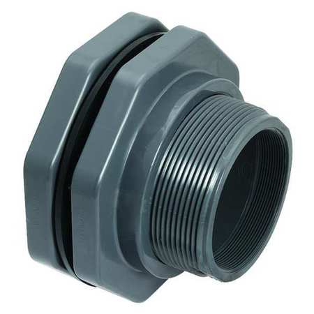 Bulkhead Fitting, 4 In, FNPT