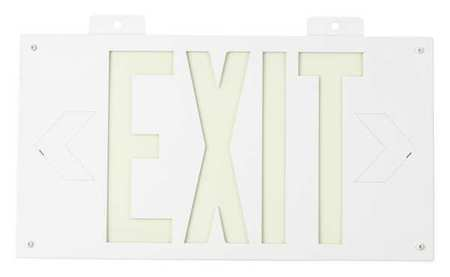 Exit Sign, 8-1/4 x 15In, GRN/WHT, Exit, ENG