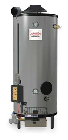 NG Commercial Gas Water Heater 100 gal.,  120VAC,  199900 BtuH