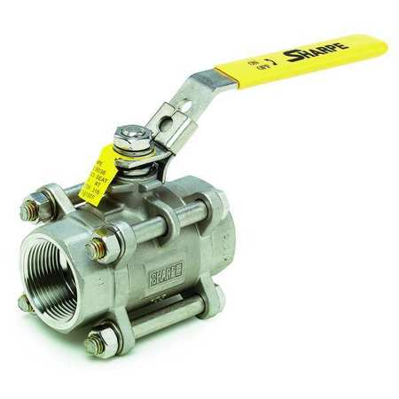 "1/2"" FNPT Stainless Steel Ball Valve Inline"