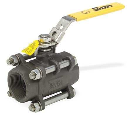 "1/2"" FNPT Carbon Steel Ball Valve Inline"