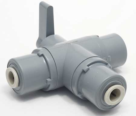 "1/4"" Push PVC Ball Valve 3-Way"