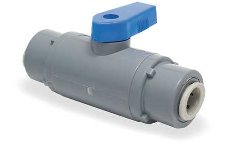 PVC Ball Valve, Push to Connect, 3/8 in