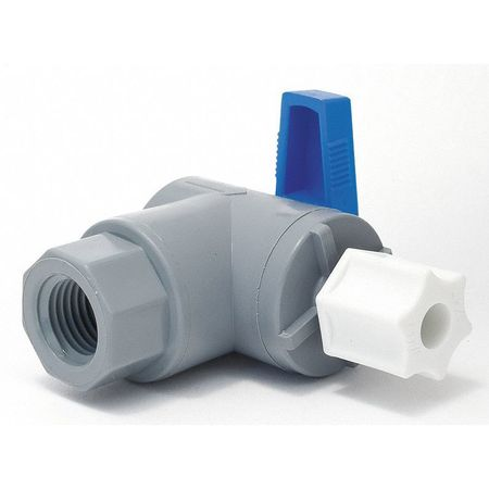 "1/4"" FNPT x Compr PVC Ball Valve Angle"