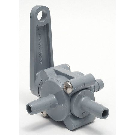 "1/2"" Barb PVC Ball Valve 3-Way"