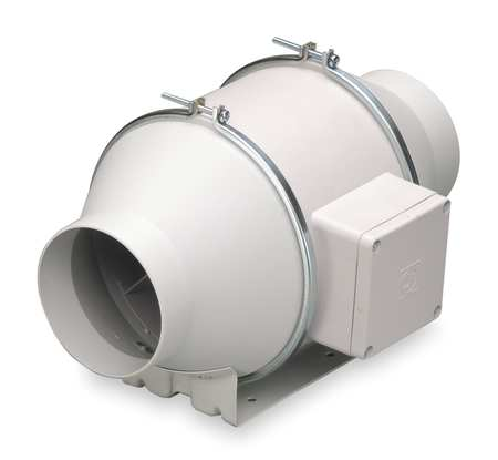 Mixed Flow Duct Fan, 4 In. Dia.
