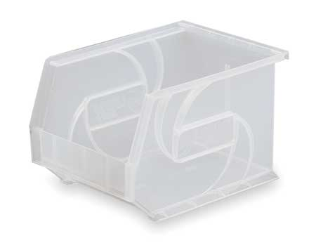 Hang and Stack Bin, 14-3/4 In L, Clear