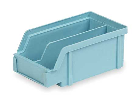 Hang and Stack Bin, 7 In L, Light Blue